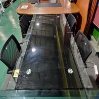 유리회의테이블 세트
